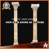 Gold Calcium Travertine Marble Columns and Pillars