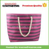 Handmake Woven Nylon Tote Bag with Cotton Rope Handle