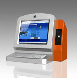 Desktop Self Payment Coin Operated Kiosk with Keyboard