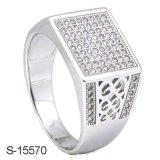 Latest Design Fashion Jewelry Man Ring Silver 925