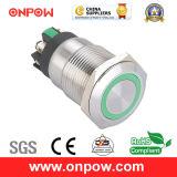 Onpow 19mm Push Button Switch (LAS1GQ-11E/L/B/12V/S, CE, CCC, RoHS)