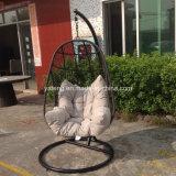 Cheap Outdoor Garden Furniture Synthetic PE-Rattan Aluminum Frame Weaving Swing Chair Hammock (YTA803)