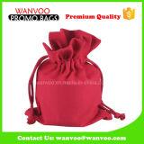 Fashion Red Cotton Wedding Packing Drawstring Bag