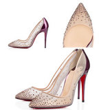 2015 New Fashion Shoes Women Mesh Diamond Womens Shoes Factory Latest Models Sexy Beautiful Heels