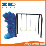 Kids Double Seat Swing Plastic Climbing Wall Play