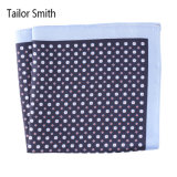 Luxury Silk Polyester Dots Plaid Flower Printed Pocket Square Hanky Handkerchief (SH-089)