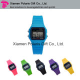 Cheap Colorful Silicone Wristband LED Digital Kids Watch for Promotion