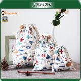 Printing Reusable Cotton Drawstring Packing Bag