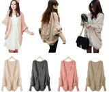 Thick Cape Batwing Sleeve Knit Loose Casual Wraps Sweater Tops