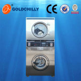 Double-Deck Washer and Drier with Coins Washing Drying Machine