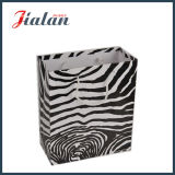 Matte Laminated Zebra Stripe Ivory Paper Shopping Gift Paper Bag