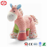 Cotton Fabric Soft CE Kids Plush Horse Standing Toy