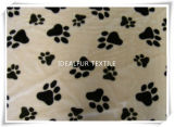 Fake Fur with Paw Printed