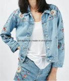 Wholesale Women Clothes Embroidered Retro Slim Wild Short Denim Jacket