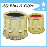 2015 Newest 3D Drum Lapel Pin Badge with Diamond (badge-113)