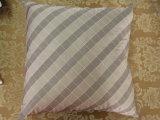 Color Block Grey/ Khaki Square Pillow