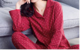 100% Cotton Woman Sleep Wear in Red Color