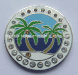 Silver Plated Customized Golf Ball Marker (Hz-1001-053)