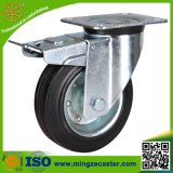 Total Brake Transport Black Rubber Swivel Castor