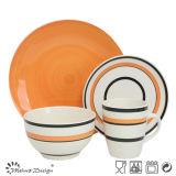 Fancy Design Hand Painting Stoneware 16PCS Dinner Set
