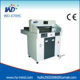 Professional Manufacturer Numerical Control Paper Cutter Hydraulic Paper Cutter Machine (WD-670HC)