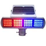 Red Blue Solar LED Traffic Light Blinker Traffic Warning Light