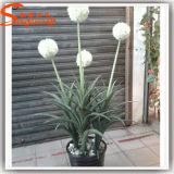 Distinctive Design Hand Feeling Artificial White Ball Flower
