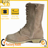 All Leather Side Zipper Military Army Desert Boots