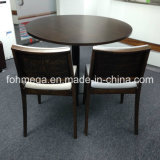 Round Wooden Shopping Mall Food Court Dining Table for Sale