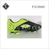 New Style Soccer Shoes with Soft Leather Upper and TPU Outsole