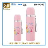 350ml Double Wall Stainless Steel Vacuum Bottle with Sling (SH-VC02)
