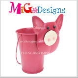Iron Plant Pot 2016 New Customized Little Funny Pig