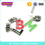 Fashion Accessories Silver Plated Enamel Letters Europeancharms Jewellery