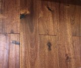 Cheap Handscraped Black Walnut Stain Small Leaf Click System Acacia Engneered Wood Flooring