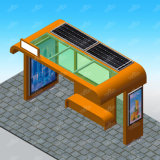 Outdoor Furniture Bus Stop Shelter with Ad Board and Solar Light Box