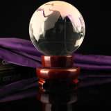 Sandblast 80mm Crystal Glass Globe for Business Gift