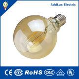 Ce RoHS 3W-8W E27 Amber LED Filament Global Bulb