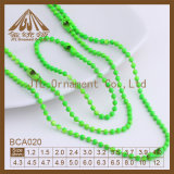 High Quality Metal Ball Chain Various Color and Various Size with Connector