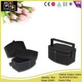 Black Custom Logo Leather Jewellery Box Jewelry Packing Box (8204R1)