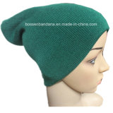 Factory Bulk Produce Acrylic Green Slouchy Snowboard Winter Knitted Beanie Hat