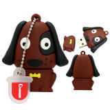Mini Brown Pug Cartoon Lap Dog Drives Flash