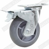 Heavy Duty TPR Caster with Top Brake (Gray) (G4307D)