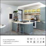 Grey Colour High Glossy UV Kitchen Cabinet (ZH924)