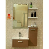 Oppein Coffee Simple Flashing Lacquer Modern Bathroom Cabinets (OP-P1124-IIX)
