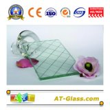 6mm, 6.5mm, 7mm Wired Reinforced Safety Tempered Wired Glass for Window / Door / Partition