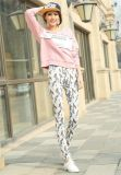 Women′s Fashion Slim Fit Floral Nine Pants