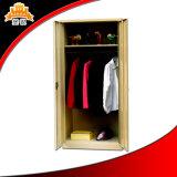 3 Door Steel Bedroom Dressing Closet Cupboard Metal Wardrobe Design with Mirror