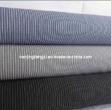 80/2 Cotton Yarn Dyd Carbon Peached Mini Stripe Fabric-Lz3553