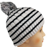 Knitted Beanie with Knitted in Design NTD1659