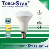 Aluminum Plastic E27 Base 9W R63 LED Spot Lamp
